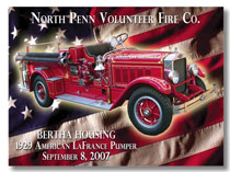 North Penn Volunteer Fire Co. Dash Plaque