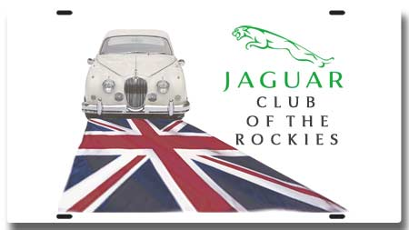 Jaguar Club of theRockies License Plate