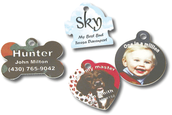 Pet Tags - Four Different Shapes