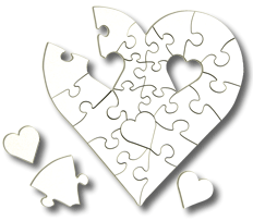 Blank Heart Shaped Puzzle