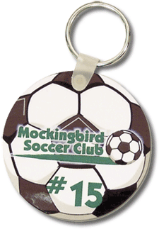 Soccer Ball Key Tag