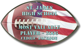 Football Plaque Award
